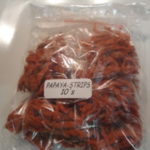 red papaya strips