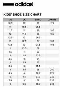 Kids Shoe Size Converter Brazil Usa